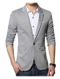 Beninos Men's Premium Casual One Button Slim Fit Blazer Suit Jacket