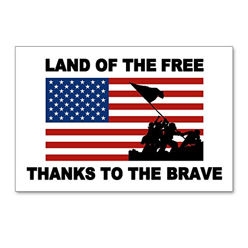 - CafePress - Land Of The Free Thanks To The Brave Postcards (Pa - Postcards (Package of 8), 6