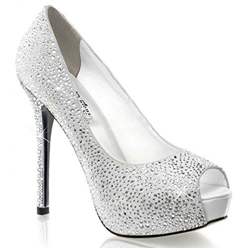 Pleaser Day & Night - Zapatos de vestir de piel para mujer blanco