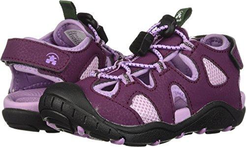 Kamik Girls' Oyster2 Sandal, Dark Purple/Lilac, 11 M US Little Kid