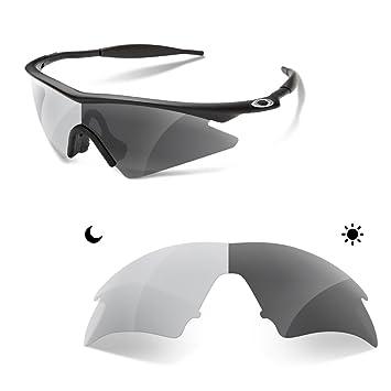 Sunglasses Restorer Premium Lentes de Recambio Polarizadas Fotocromáticas Grises para Oakley M-Frame