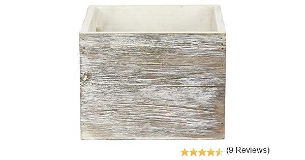 Maceta de madera cuadrada de 6 pulgadas (4.5 pulgadas de altura ...