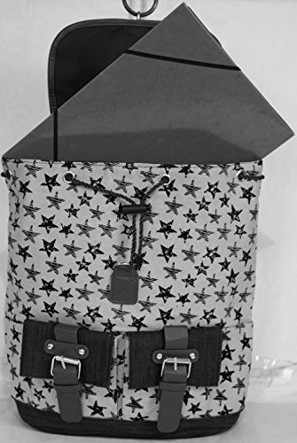 19 Format Dos Ordinateur a a EUR Sac Homme Gris PRIX Femme Jean 'Modèle Etoiles' de RÉDUIT Cours Toile A4 99 Sac Sac AY45Uqww
