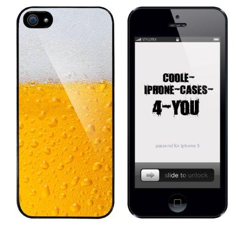 Iphone 5 Case Bier Rahmen schwarz