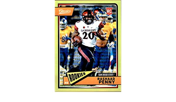 Amazon.com: 2018 Panini Classics Chrome Premium Edition Timeless Tributes Gold #220 Rashaad Penny/65 RC Rookie Football Card: Collectibles & Fine Art