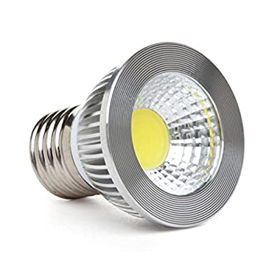 "GOOLSUN 5-watt PAR16/HR16 LED COB Flood Bulb, Dimmable, 90° Beam Spread, 50-watt Equivalent, 500 lumens, CRI 80+, Short Neck, AC 120V, E26 Medium Base, 2.2"" Length"