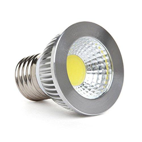 """GOOLSUN 5-watt PAR16HR16 LED COB Flood Bulb 3000K Soft White Dimmable 90 Degree 50-watt Equivalent 500 lumen CRI 80 Short Neck AC 120V E26 Medium Base 22"""" Length"""