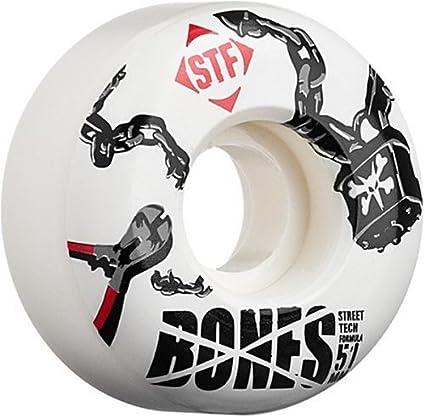 Bones Wheels Huesos Ruedas candado de Calle Tech fórmula monopatín Rueda Set, Padlock