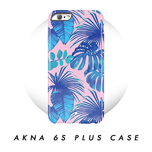 iPhone 6 Plus/iPhone 6s Plus case, Tropical Leaves Pattern, Akna Hard Silicon Back Cover for Girls (48-U.S)