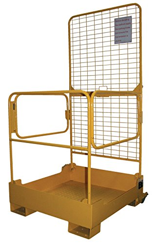 Vestil WP-3737-FD Fold-Down Work Platform, 600 lb Capacity, 37'' x 37'', Powder Coat Yellow, not for use in California by Vestil