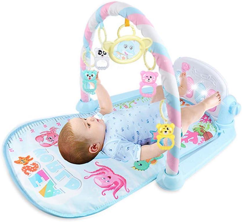 patada y juego tapete de gimnasio para piano, gimnasio para juegos con actividad para bebés, tapete para juegos para bebés recién nacido con centro de actividades, música y sonidos, adecuados desde