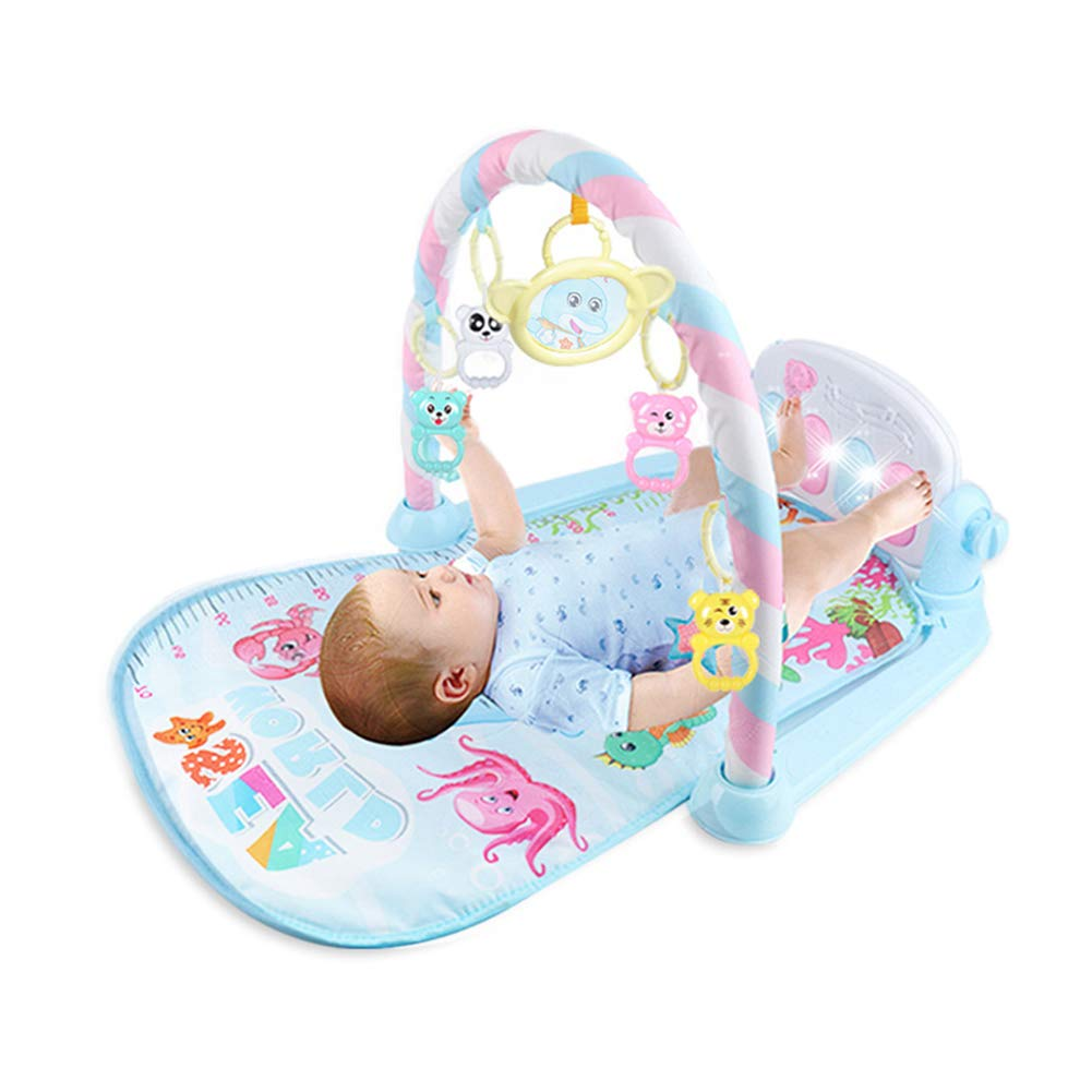 Baby Play Piano Gym, New-Born Baby Play Mat with Activity Centre,Music and Sounds, Suitable from Birth merymall
