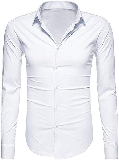 Camisa Fina para Hombre, Cuello en V, con Botones Malloom ...
