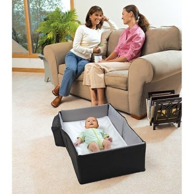 Amazon.: Eddie Bauer Infant Travel Bed   Black : Infant And