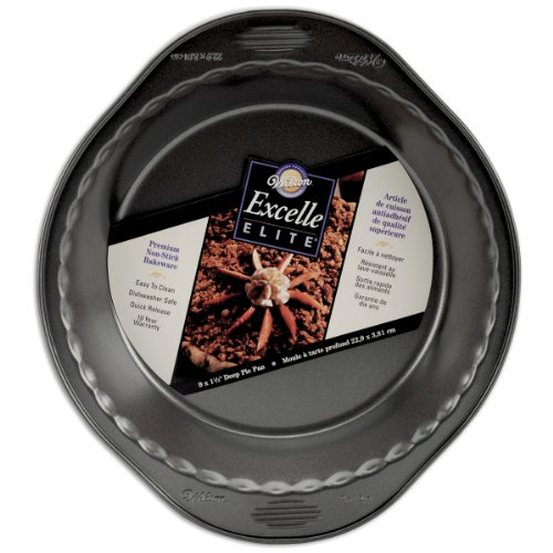 Wilton Excelle Elite 9 Inch x 1.5 Inch Deep Pie Pan by Wilton