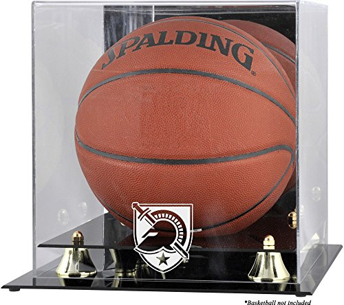 Sports Memorabilia Army Black Knights Golden Classic (2015-Present Logo) Basketball Display Case with Mirror Back - College Basketball Free Standing Display Cases ()