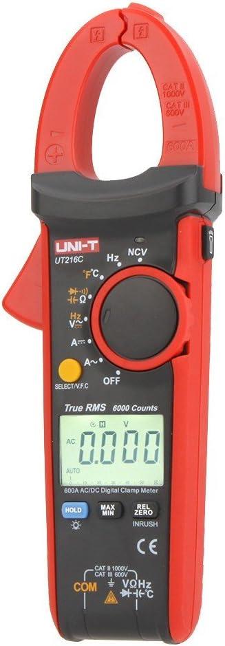 Uni T Ut216c Digitales Zangenmessgerät Für Frequenz Temperatur Und Ncv Test Effektivwerte 600 A Baumarkt