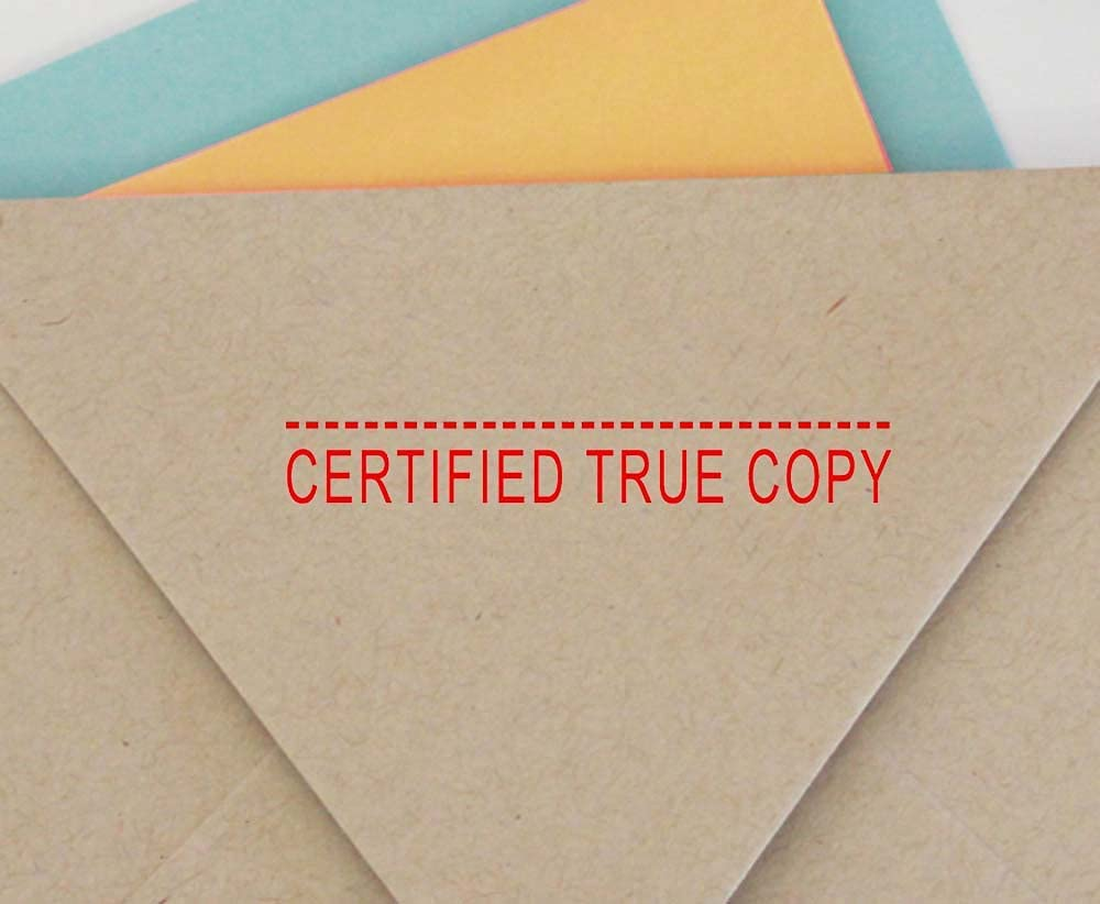Certified True Copy Self Inking Rubber Stamp Custom Colop Office Stationary P20 Mini Stamper