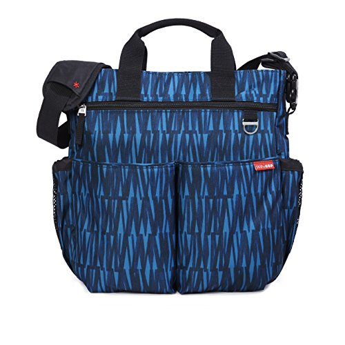Skip Hop Duo Signature Carry All Travel Diaper Bag Tote with Multipockets, One Size, Blue Graffiti ()