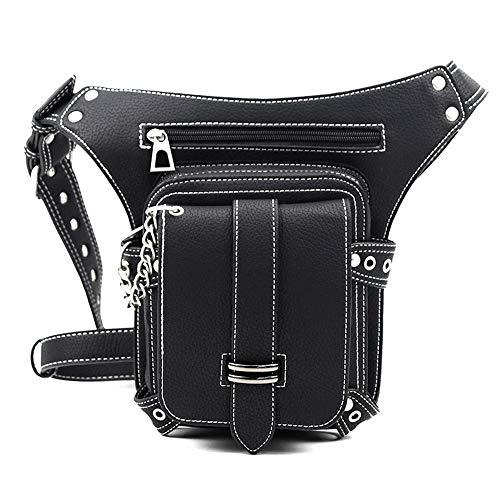 - Mn&Sue GothicSteampunkWaist Bag Thigh Holster Bags Dual-Use Shoulder Crossbody Bag for Nightclub