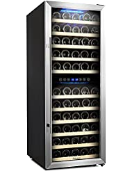 Kalamera 73 Bottle Compressor Wine Cooler Dual Zone with Touch Control