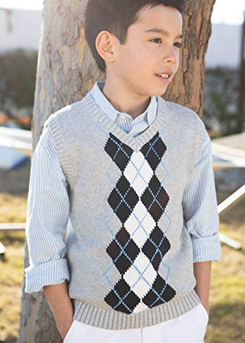Hope & Henry Boys' Grey Argyle Cable Sweater Vest by Hope & Henry (Image #3)