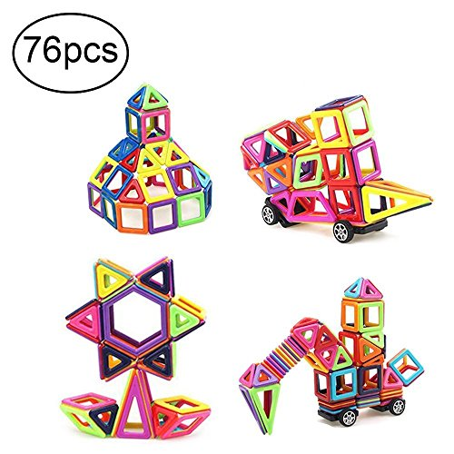 Camande Magnetic Building Block Set, 76 Pieces Set Magnet Ki