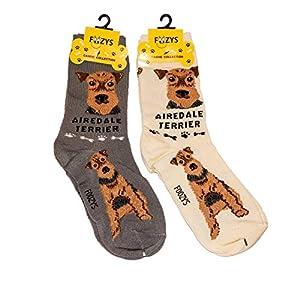 Foozys Unisex Crew Socks | Canine Large & Medium Dog Breed Novelty Sock (2 Pair) 3