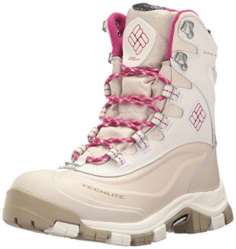 Columbia Women's Bugaboot Plus Omni-Heat Michelin Snow Boot, Sea Salt, Deep Blush, 9 B US by Columbia (Image #1)
