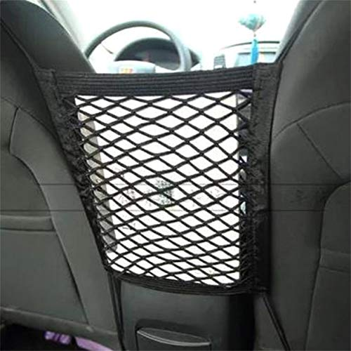 (Storage,28x25cm Universal Car Seat Back Storage Mesh Net Bag Luggage Holder Pocket Sticker Trunk Organizer Strong Magic Tape Accessories)