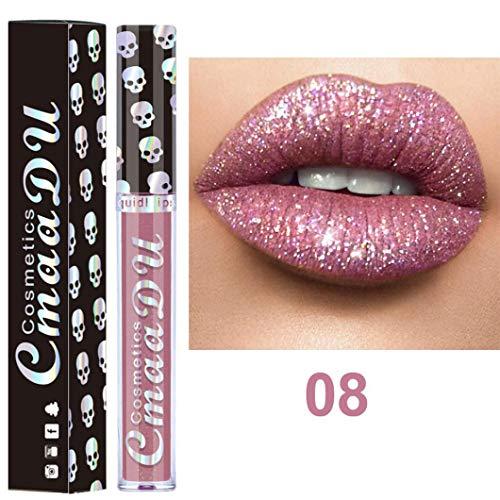 Creazy Sexy 8 Colors Nude Metallic Matte Velvet Glossy Lip-gloss Lipstick Lip Cream (H) ()