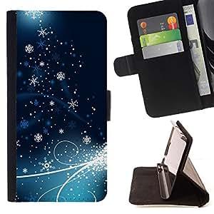 BullDog Case - FOR/HTC Desire 820 / - / Holiday Christmas Snowflake Ice /- Monedero de cuero de la PU Llevar cubierta de la caja con el ID Credit Card Slots Flip funda de cuer