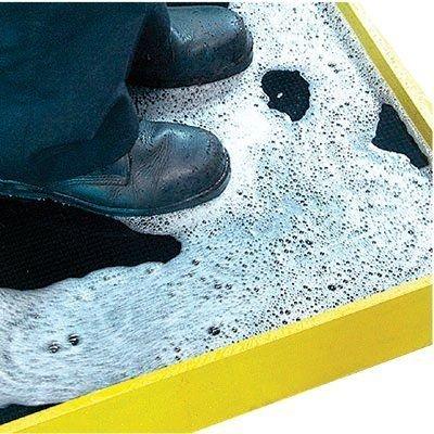 Hi-Wall Boot Dip 32X39Yel Border Sanitizer Mat