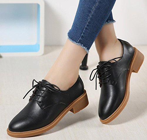Casual Shoes Loafers Autumn Oxford Fashion Women's Black Shoes YEqIxPxwR