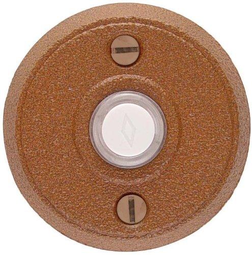Emtek 2432 2-5/8'' Diameter Round Style Steel Lighted Doorbell Rosette from the W, Flat Black