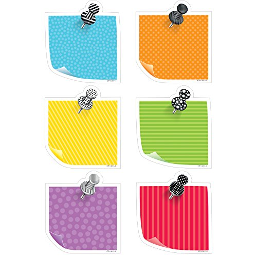 (Creative Teaching Press Bold & Bright Sticky Notes Cut Outs 6