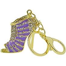Crystal Shoe High Heel Keyring, Nydotd High Heels Model Key Chain Rhinestone Purse Charm Pendant Bag Key Chain Gift for Bag Handbag Fashion Lady'sKey Ring Car Key Pendant