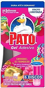 Desodorizador Sanitário Pato Gel Adesivo Refil Carrossel de Framboesa Ed. Ltda 6 Unidades, Pato