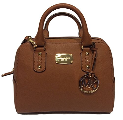 - Michael Kors Small Satchel Luggage Brown Saffiano Leather