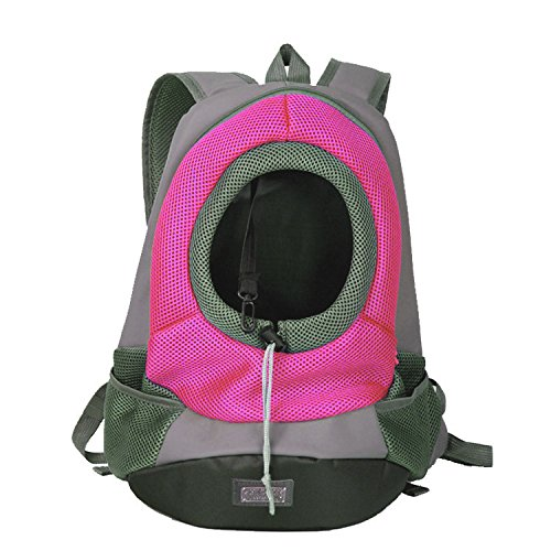 Quno Pet Carrier Backpack Adjustable Soft-sided Portable Easy-Fit Outdoor Travel Hiking for Dog Cat Small Animals Handbag Pack of 1 Rose S by Quno (Image #7)