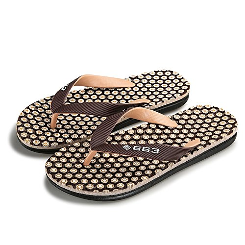 Flops Thong Sunny Brown Men's Beach 8 Brown amp;Baby Durable Size Sandals Classic Flip 5 Slipper MUS Color rXxXFTaR