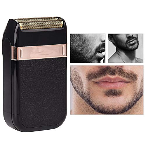 Men'S Electric Shaver Rechargeable Foil Shaving Machine Usb Rechargeable Reciprocating Razor Floating Dual Blade Beard -
