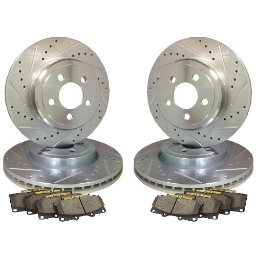 Emil Performance Emil4Dsp870 Cross Drilled And Slotted Brake Rotors Honda Civic Coupe (Si)