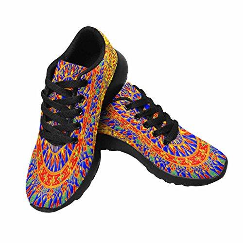 Interestprint Kvinna Jogging Kör Sneaker Lättvikts Gå Gång Casual Komfort Löparskor Indian Mandala Gul Multi 1