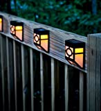 Waterproof Light Sensor Path Outdoor Solar Powered Fence Wall Lamps with 2 Leds for Outdoors Garden Yard Lightings Rechargable Automatically (Warm White) Review