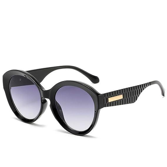 Yangjing-hl Gafas de Sol de Montura Redonda Gafas de Sol de ...