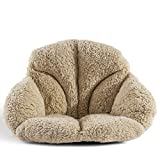 Hughapy Support Waist Backrest Pad Seat Cushion Cashmere Wool Keep Warm, Best Cushion for Home/Office Chair, Car Seat, Recliner (Khaki)