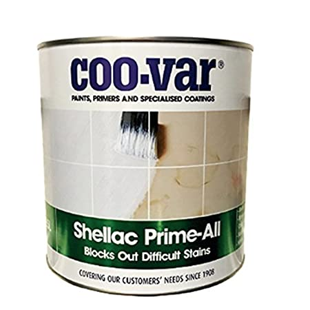 Coo-Var Shellac Prime-All Stain Blocker Sealer & Primer for Wood Plaster Cement with PSP touch-up brush (250ml)