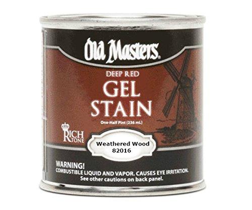 Old Masters Gel Stain (Old Masters 82016 Gel Stain, Weathered Wood, One Half Pint)
