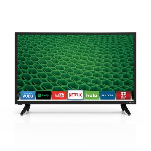 VIZIO D24-D1 D-Series 24″ Class LED Smart TV (Black) (Certified Refurbished)